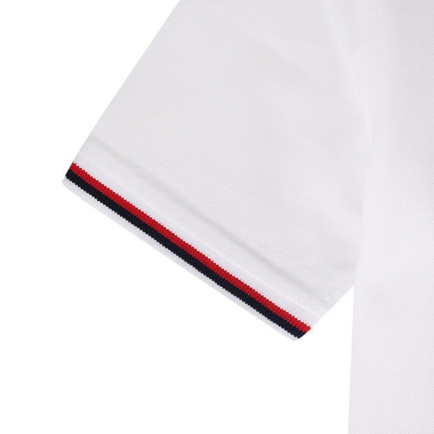 Youth Tipped Pique Polo Shirt In Bright White