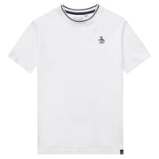 Kids Tipped Pique T-Shirt In Bright White