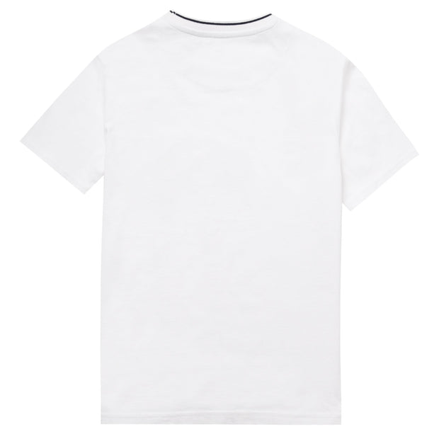 Youth Tipped Pique T-Shirt In Bright White