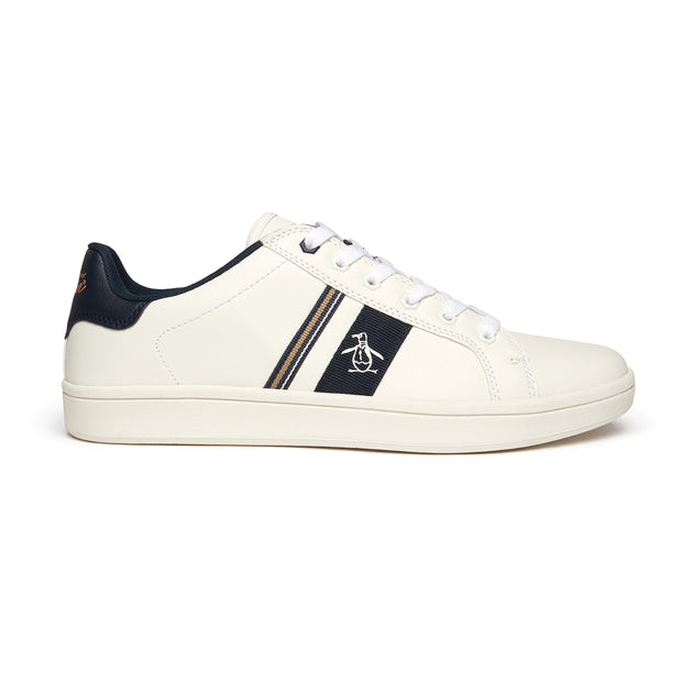 Steadman Striped Trainer In White
