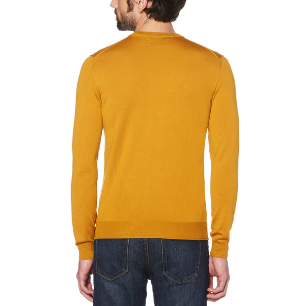 MERINO CREW NECK SWEATER IN BUCKTHORN BROWN