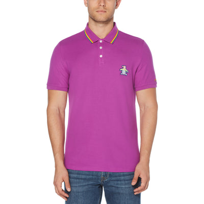 Pride Tipped Polo Shirt In Dahlia