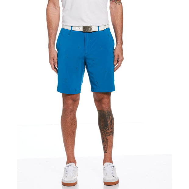 All Over Pete Embroidered Golf Short In Mykonos Blue