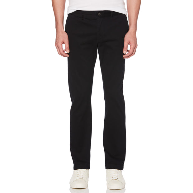 Twill Slim Fit Chino In True Black