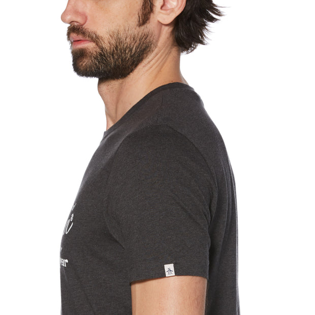 Combo Logo T-Shirt In Dark Charcoal Heather