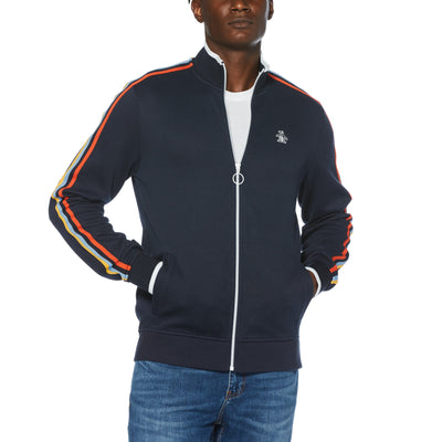 Multi-Stripe Tape Track Jacket In Dark Sapphire