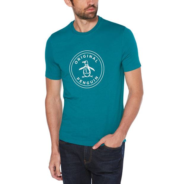 Stamp Circle Logo T-Shirt In Deep Lake