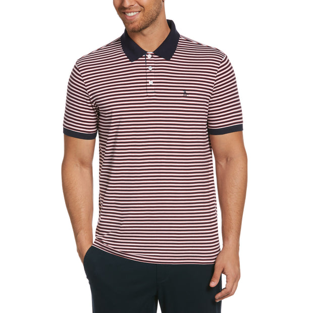 Multi-Stripe Polo Shirt In Dark Sapphire