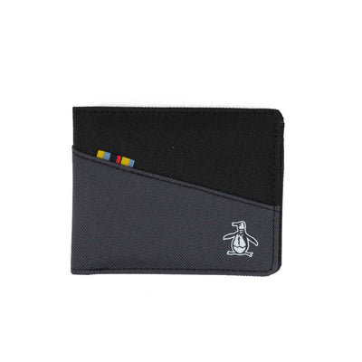 Colour Block Wallet In True Black