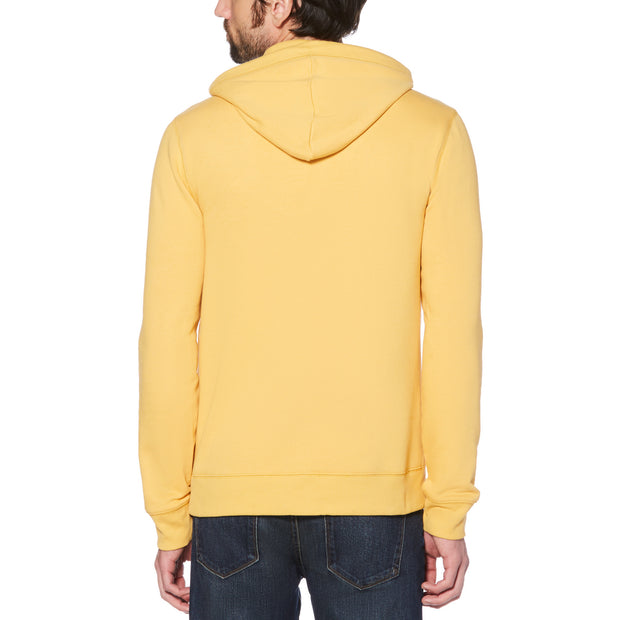 STICKER PETE FLEECE PULLOVER HOODIE IN HONEY GOLD