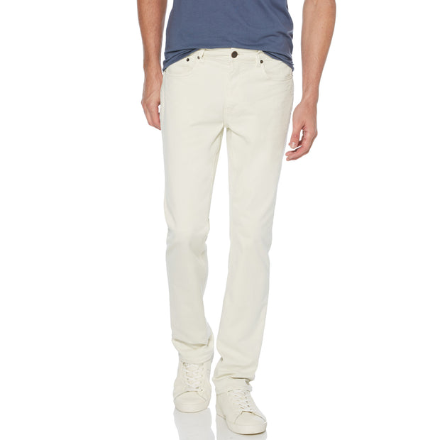 Coloured Slim Fit 5 Pocket Jeans In Natural