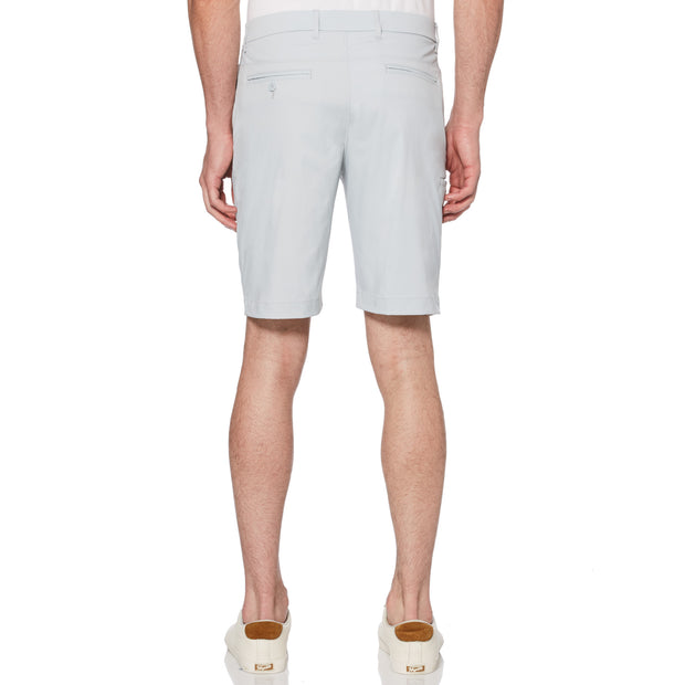 Herringbone Golf Shorts In Pearl Blue