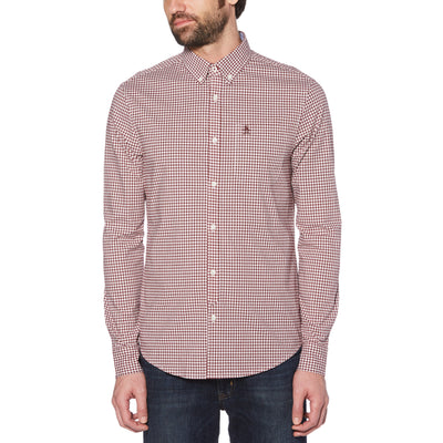 GINGHAM SHIRT IN TAWNY PORT