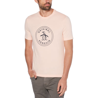 STAMP CIRCLE LOGO T-SHIRT IN IMPATIENS PINK
