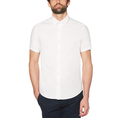 Short Sleeve Oxford Shirt In Bright White