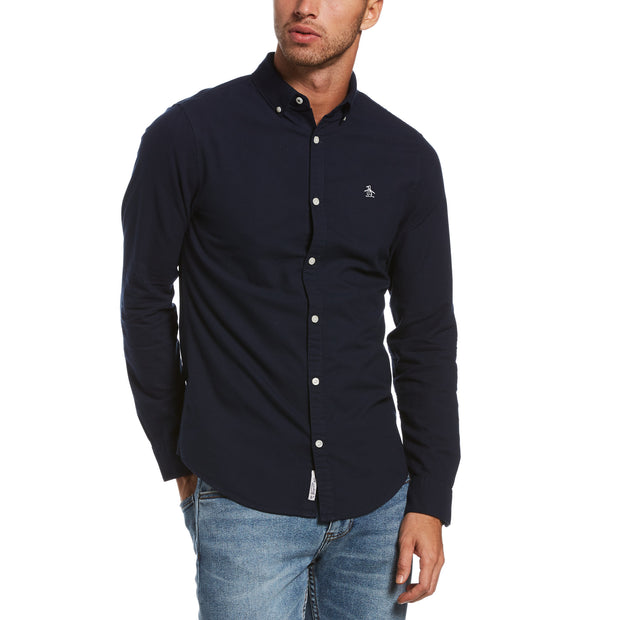 Oxford Slim Fit Shirt In Dark Sapphire
