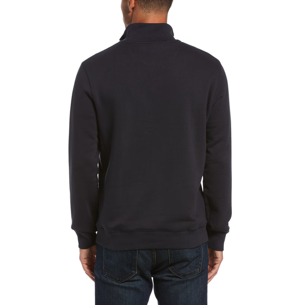 Quarter Zip Fleece In Dark Sapphire