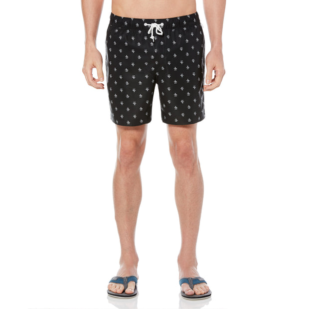 Re-Pete Swim Shorts In True Black