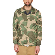 Reversible Camo Coaches Jacket In Dark Sapphire