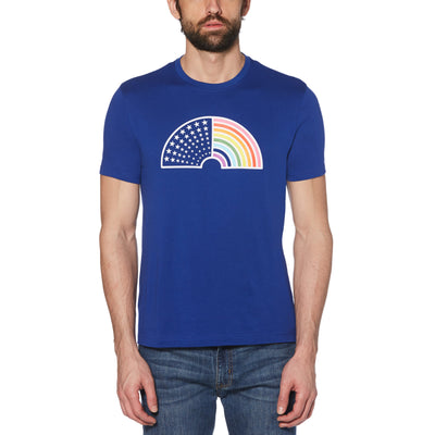 Rainbow Graphic T-Shirt In Surf The Web