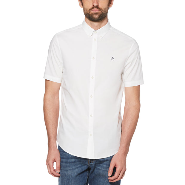 Short Sleeve Poplin Shirt In Bright White