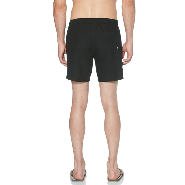 Quick Dry Daddy Swim Shorts In True Black