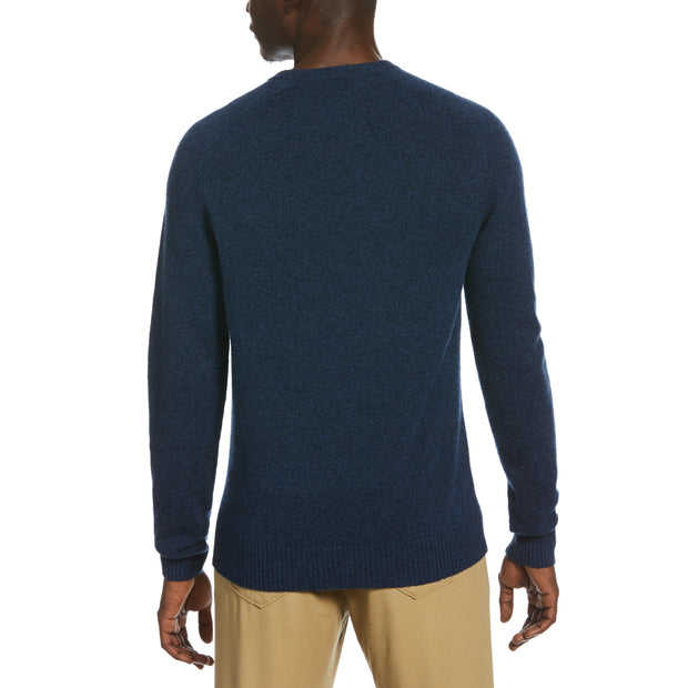 Lambswool Crew Neck Sweater In Blue Sapphire