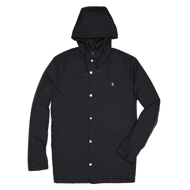Hooded Parka In True Black