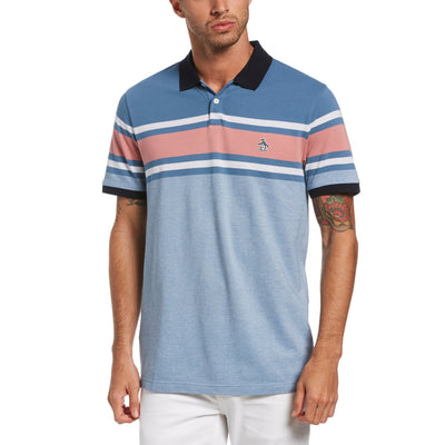 Engineered Chest Stripe Polo Shirt In Copen Blue