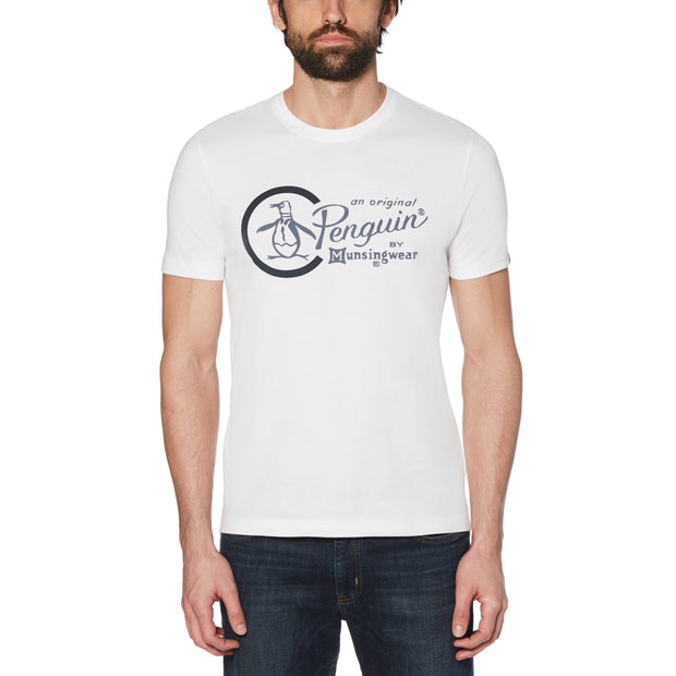 COMBO LOGO T-SHIRT IN BRIGHT WHITE