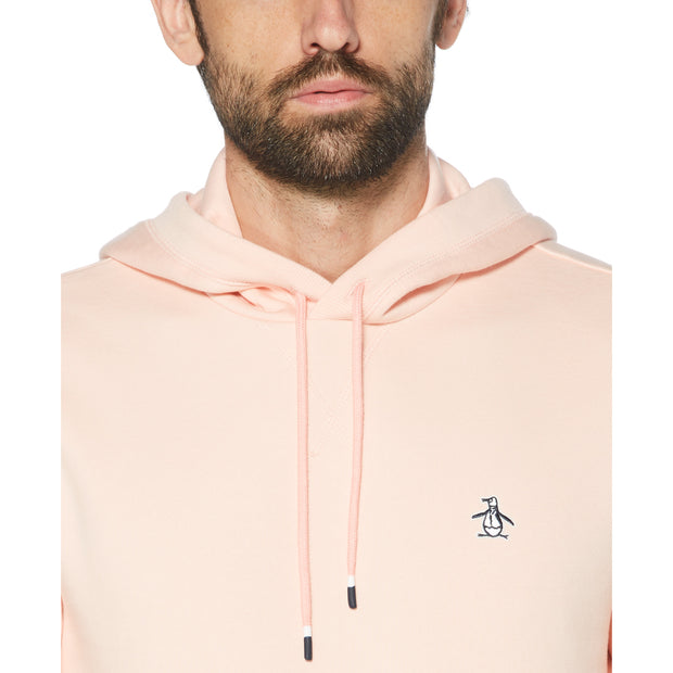 STICKER PETE FLEECE PULLOVER HOODIE IN IMPATIENS PINK