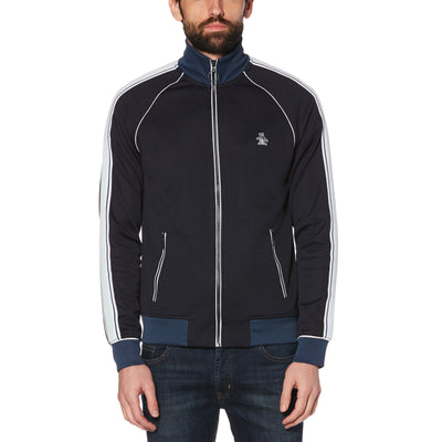 STICKER PETE TRACK JACKET IN DARK SAPPHIRE