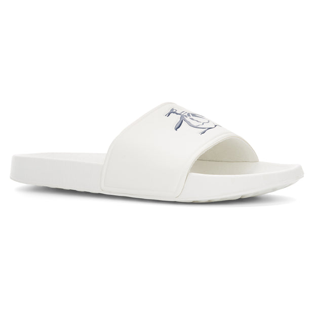 PIER SLIDER SANDAL IN WHITE