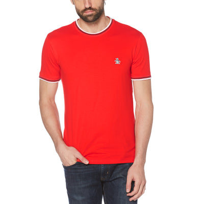 Sticker Pete Ringer T-Shirt In High Risk Red