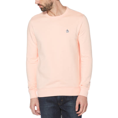 Sticker Pete Fleece Crew Neck Sweatshirt In Impatiens Pink