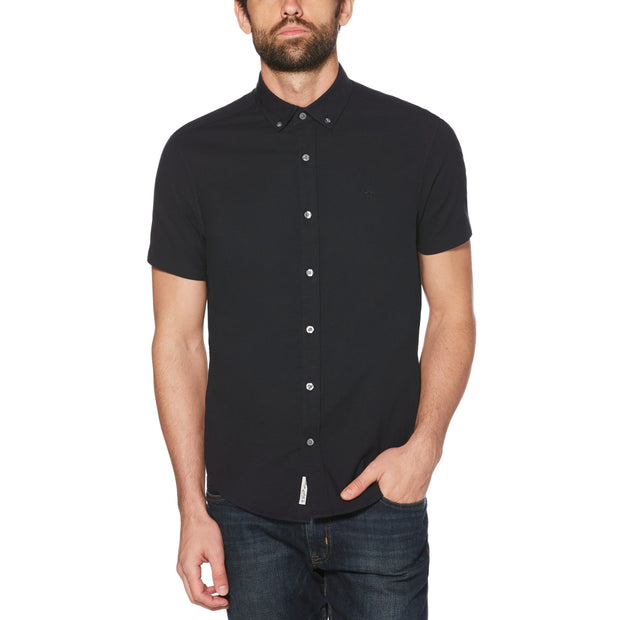 Short Sleeve Oxford Shirt In Dark Sapphire
