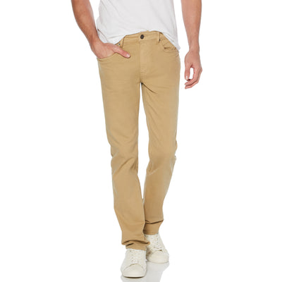 Coloured Slim Fit 5 Pocket Jeans In Kelp