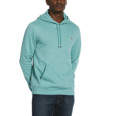 Sticker Pete Fleece Pullover Hoodie In Oil Blue