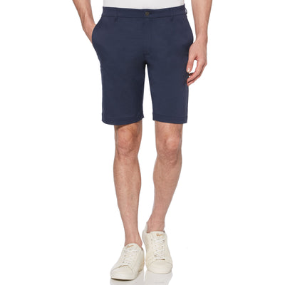 Herringbone Golf Shorts In Black Iris