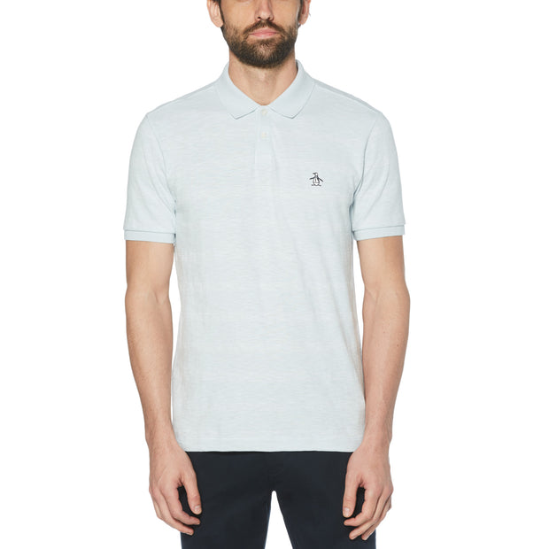Feeder Stripe Polo Shirt In Ballad Blue