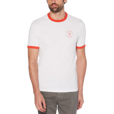 Stamp Logo Ringer T-Shirt In Bright White