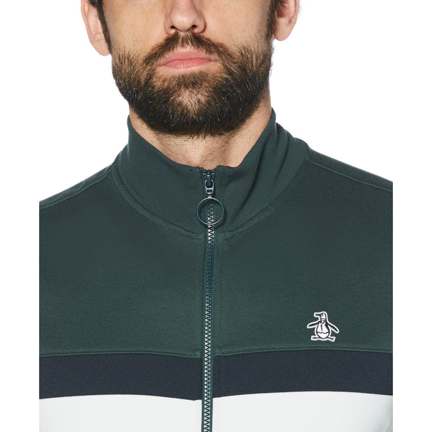 CHEST STRIPE TRACK JACKET IN DARKEST SPRUCE