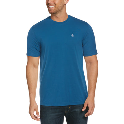 Pin Point Embroidery T-Shirt In Blue Sapphire