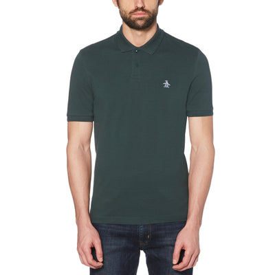 RAISED RIB POLO SHIRT IN DARKEST SPRUCE