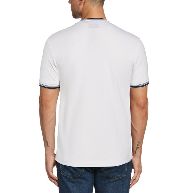 Sticker Pete Ringer T-Shirt In Bright White