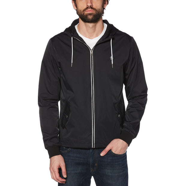 Hooded Ratner Jacket In True Black