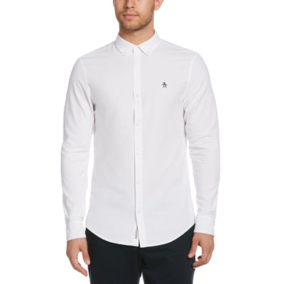 Oxford Slim Fit Shirt In Bright White