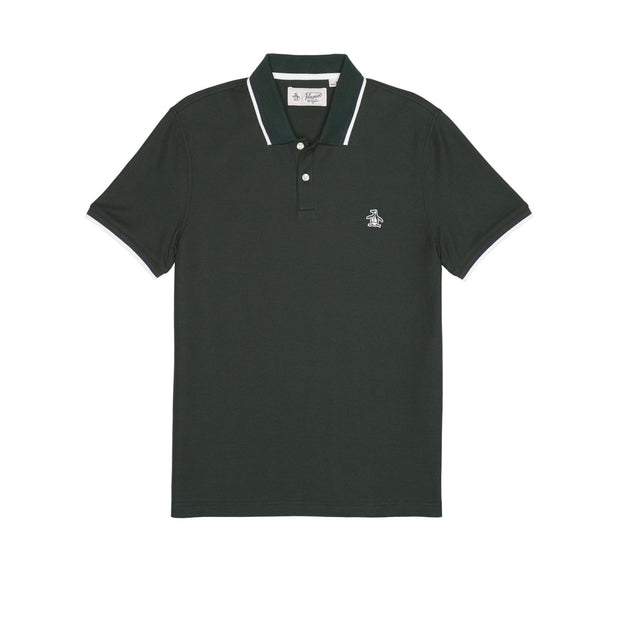 PIQUE POLO SHIRT IN DARKEST SPRUCE