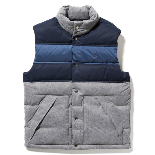 COLOUR BLOCK VEST IN STEEL GREY
