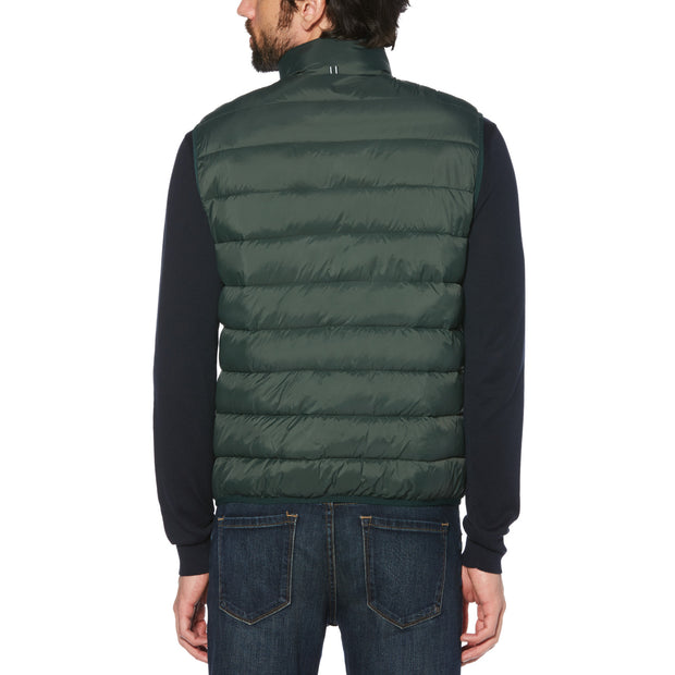 LIGHTWEIGHT FILLED VEST IN DARKEST SPRUCE